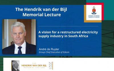 Annual Hendrik van der Bijl Memorial Lecture 2021